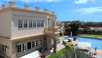 Villa overlooking the sea in Costa Calma, Fuerteventura - Aerial view