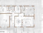 House for sale in Tetir - Ground floor plan